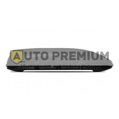 Автобокс на крышу Серый Turino Sport (480 л) Аэродинамический на крышу автомобиля